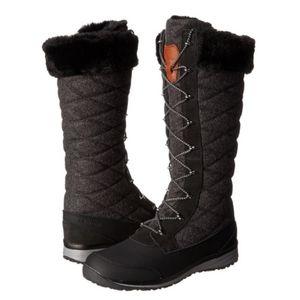 Salomon 7 Hime Snow Winter Warm Lined Black Boots